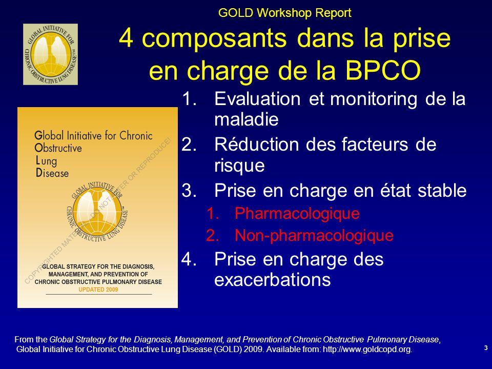 GOLD Workshop Report 4 composants dans la prise en charge de la BPCO