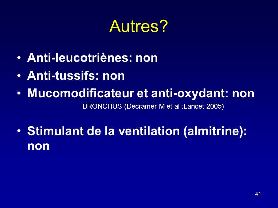 Autres Anti-leucotriènes: non Anti-tussifs: non