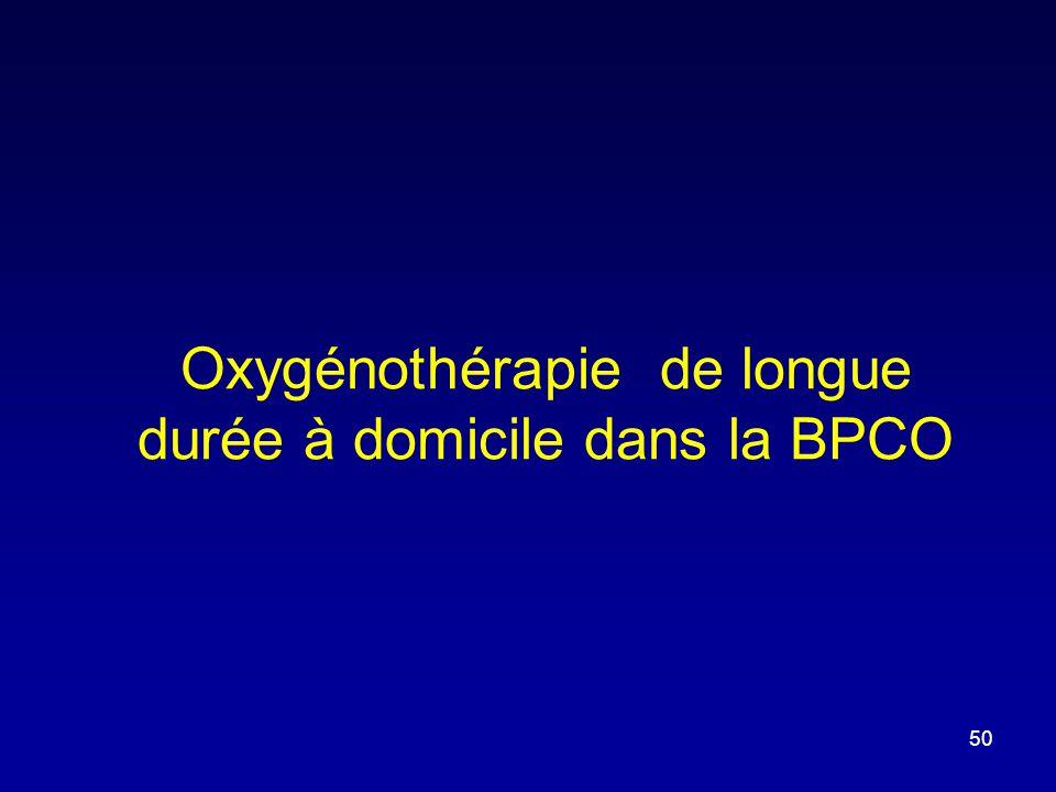 Oxygénothérapie de longue durée à domicile dans la BPCO