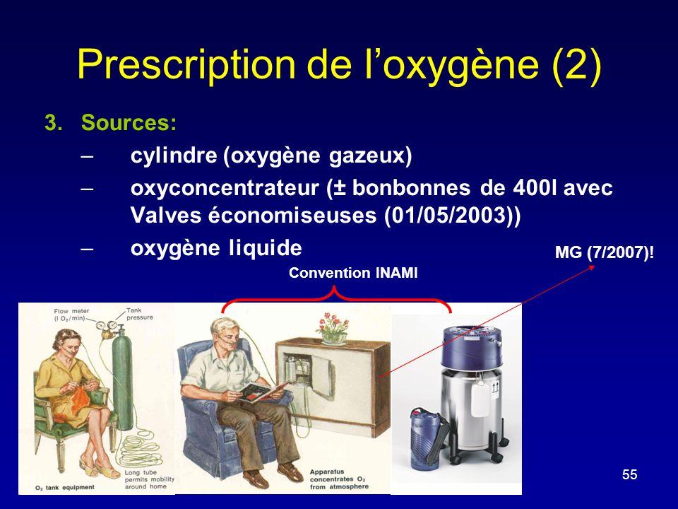 Prescription de l'oxygène (2)