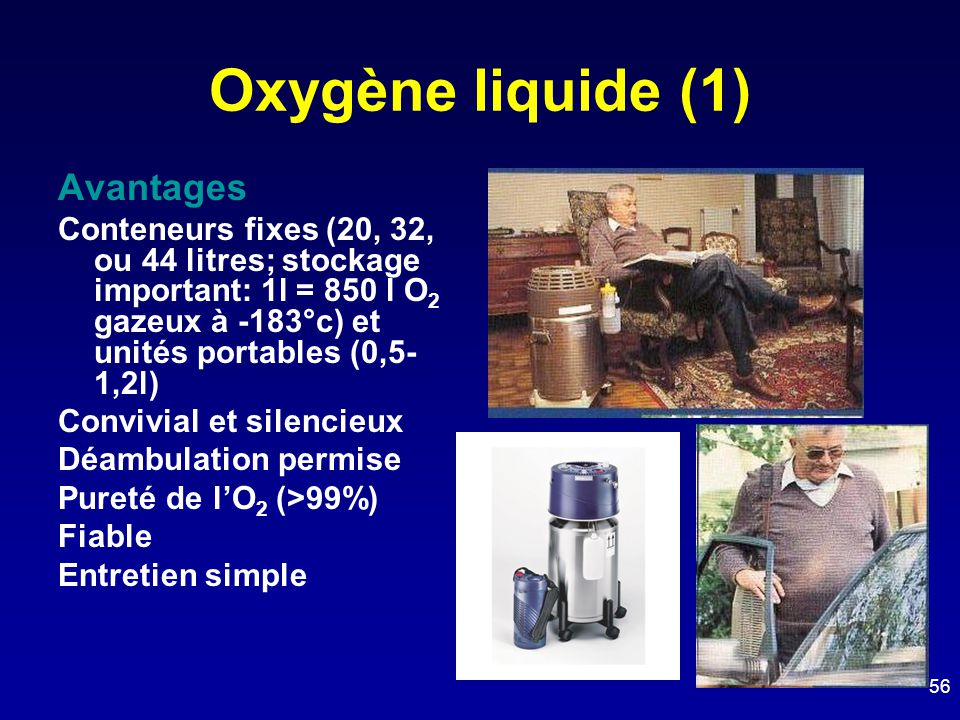 Oxygène liquide (1) Avantages