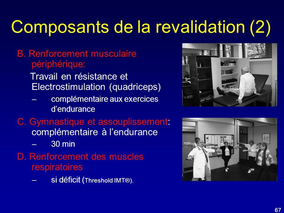 Composants de la revalidation (2)
