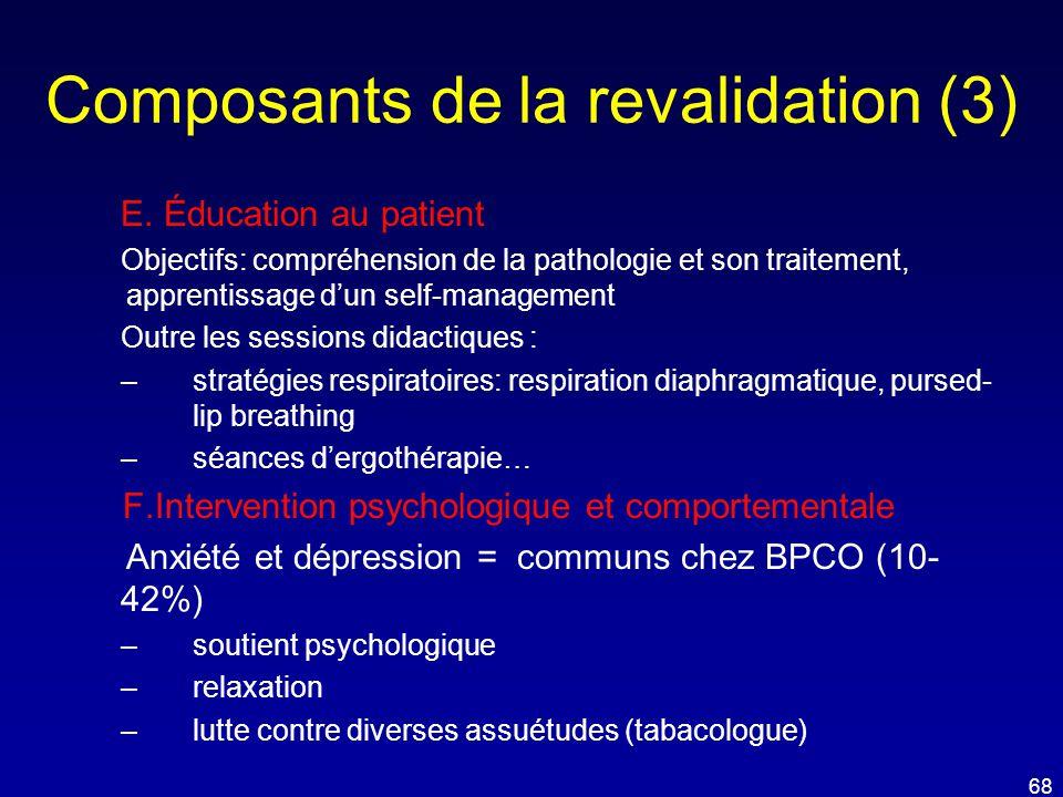 Composants de la revalidation (3)