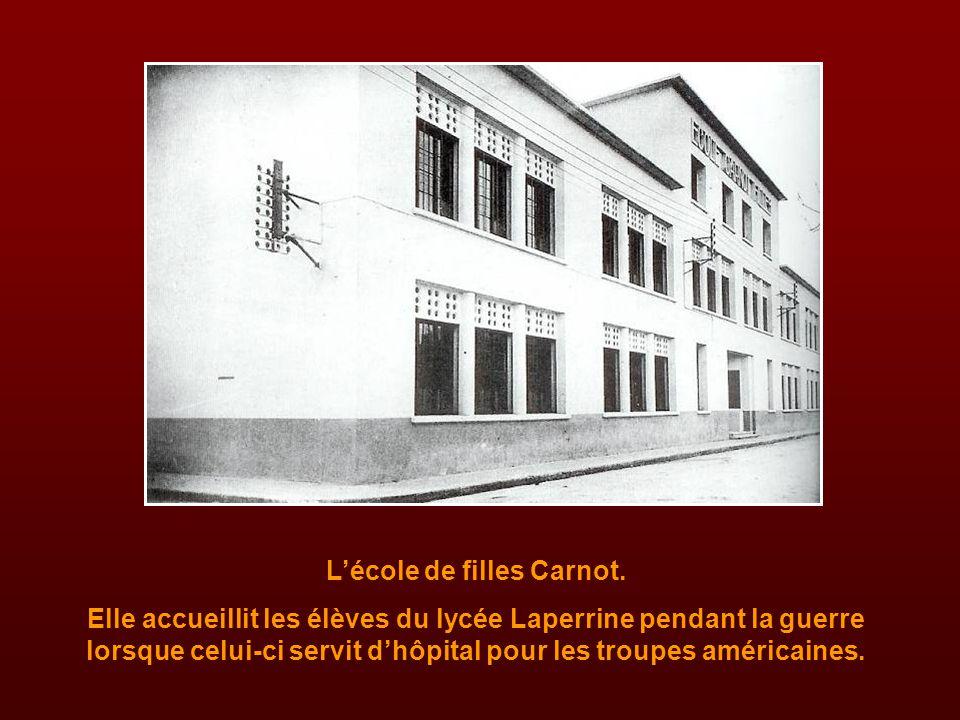 L'école de filles Carnot.