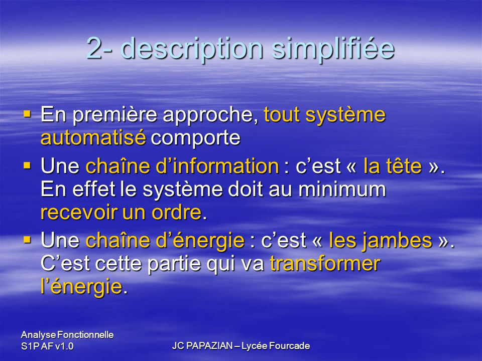 2- description simplifiée