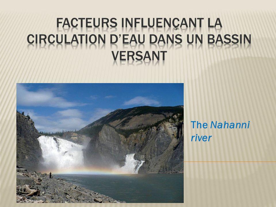 Facteurs influençant la circulation d'eau dans un bassin versant
