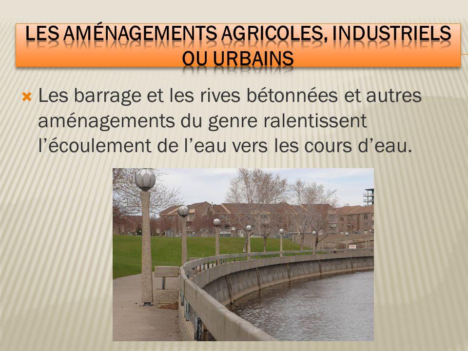 Les aménagements agricoles, industriels ou urbains