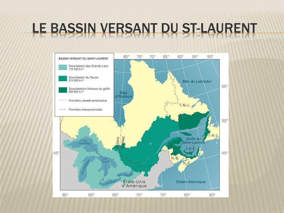 Le bassin versant du St-Laurent