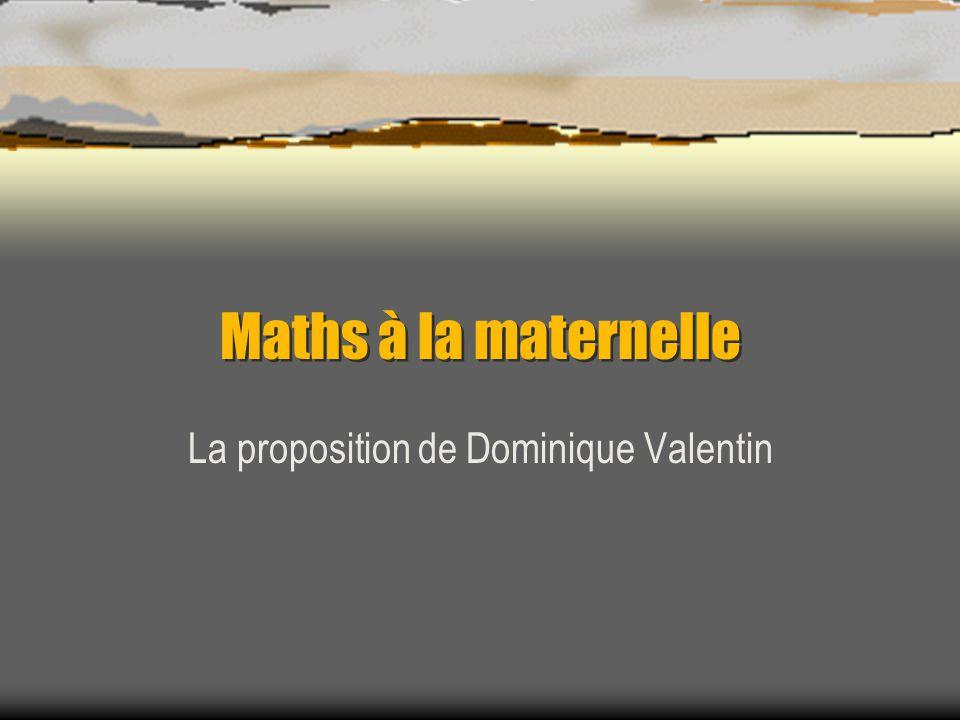 La proposition de Dominique Valentin