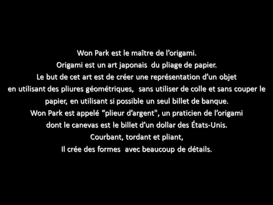 Won Park est le maître de l'origami.