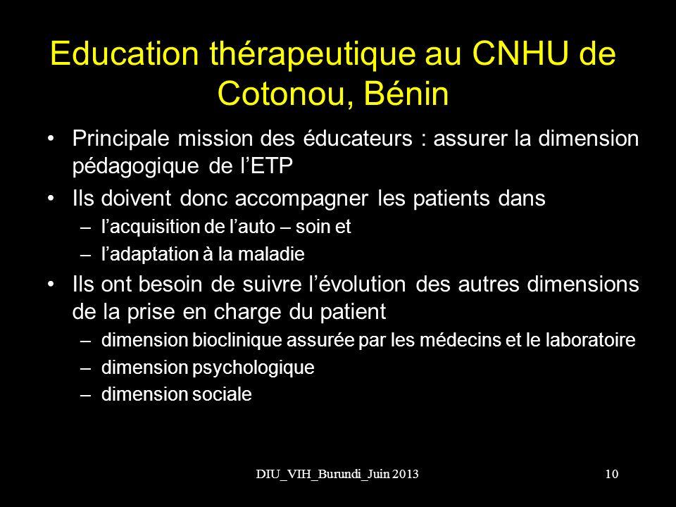 Education thérapeutique au CNHU de Cotonou, Bénin