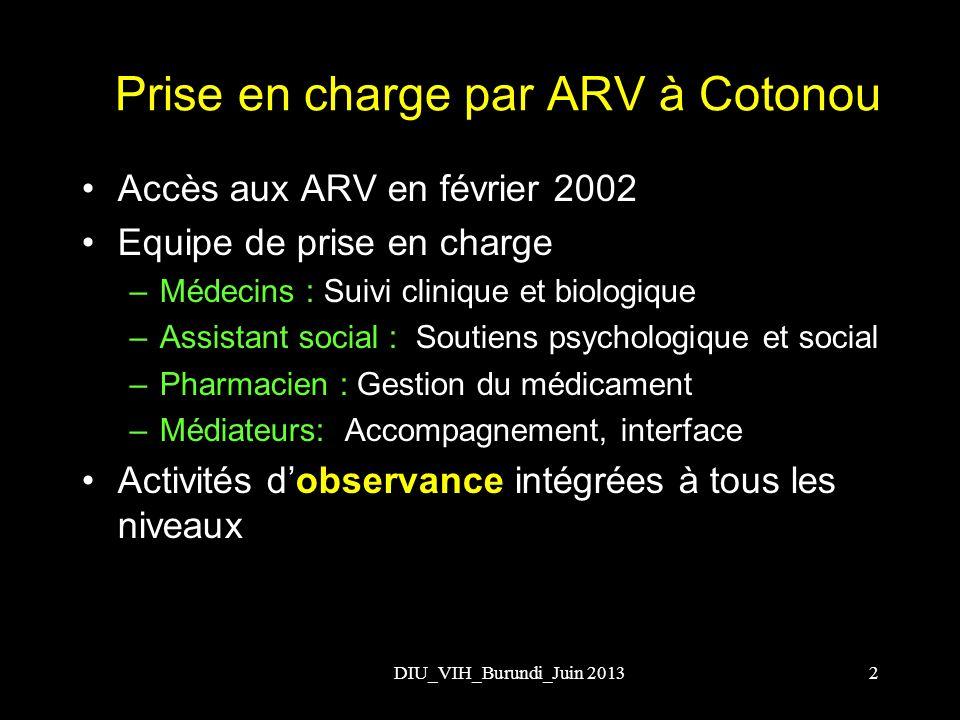 Prise en charge par ARV à Cotonou