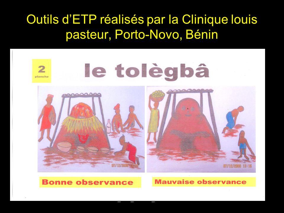 Outils d'ETP réalisés par la Clinique louis pasteur, Porto-Novo, Bénin