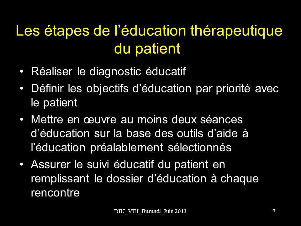 Les étapes de l'éducation thérapeutique du patient