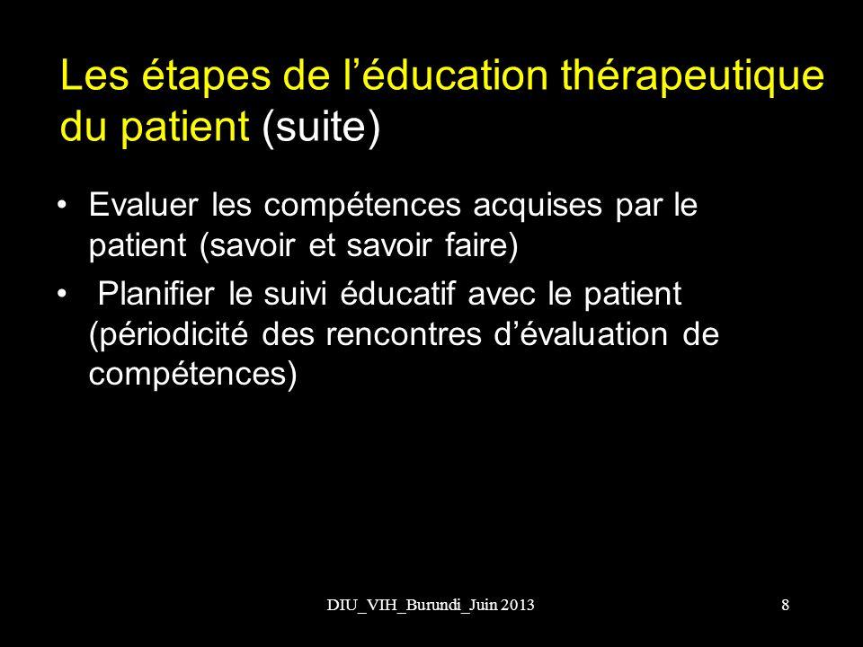 Les étapes de l'éducation thérapeutique du patient (suite)