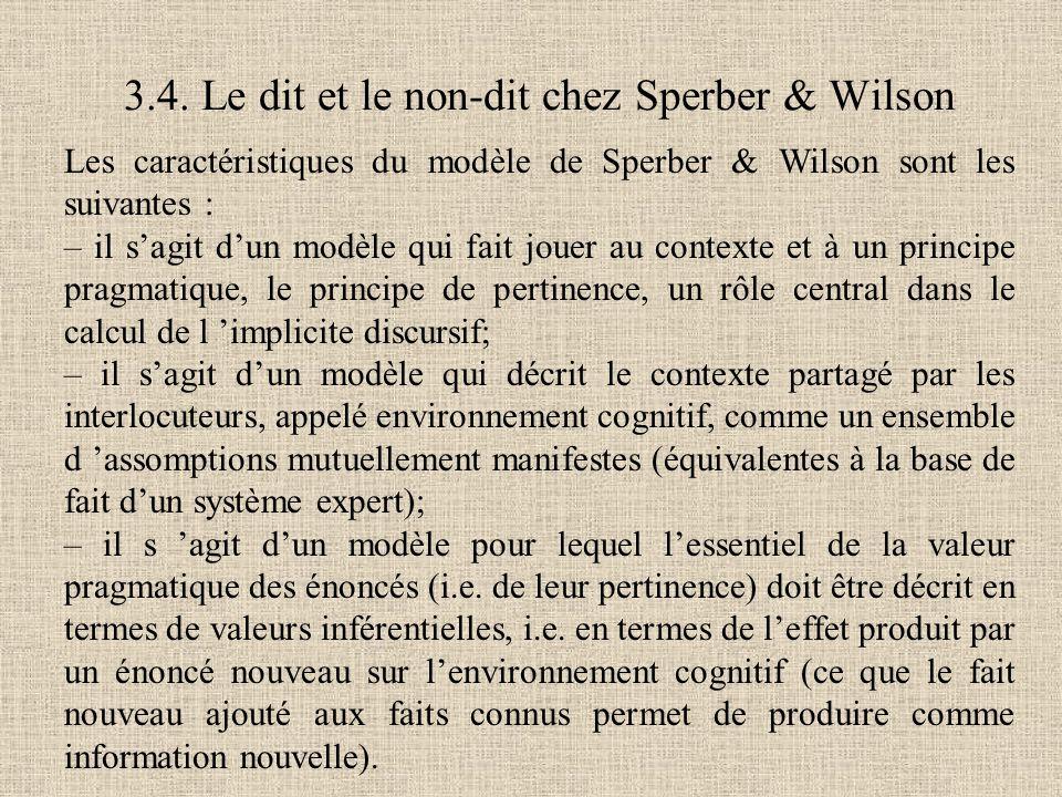 3.4. Le dit et le non-dit chez Sperber & Wilson