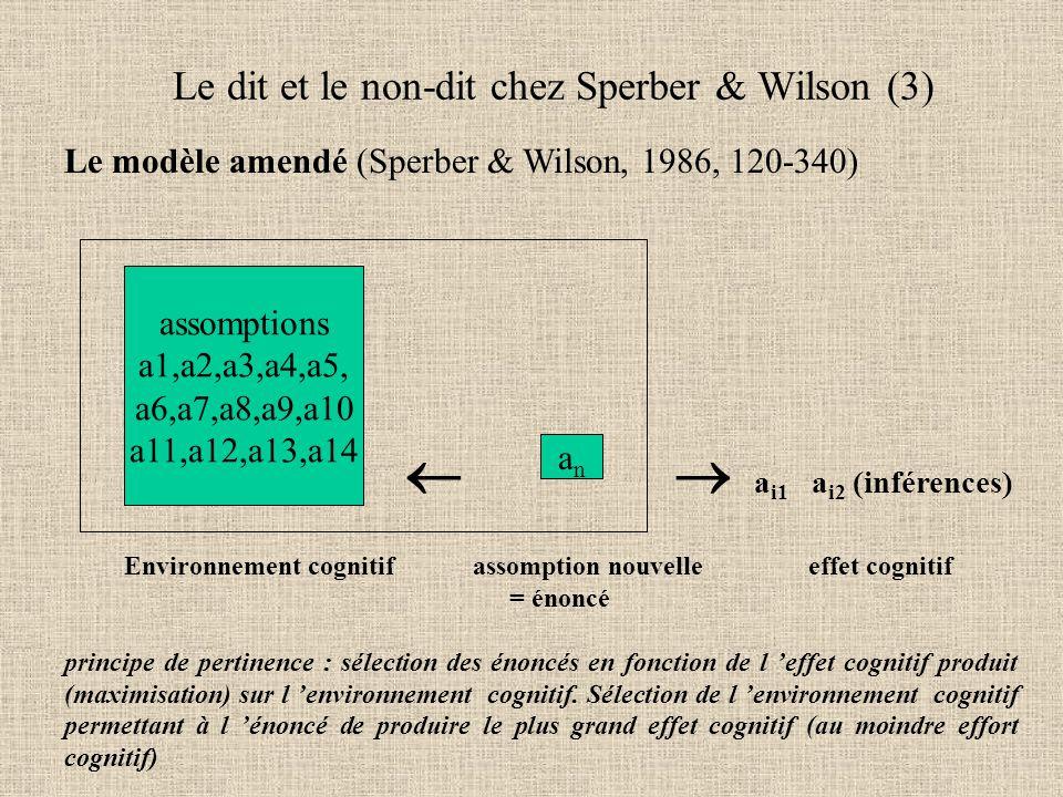 Le dit et le non-dit chez Sperber & Wilson (3)