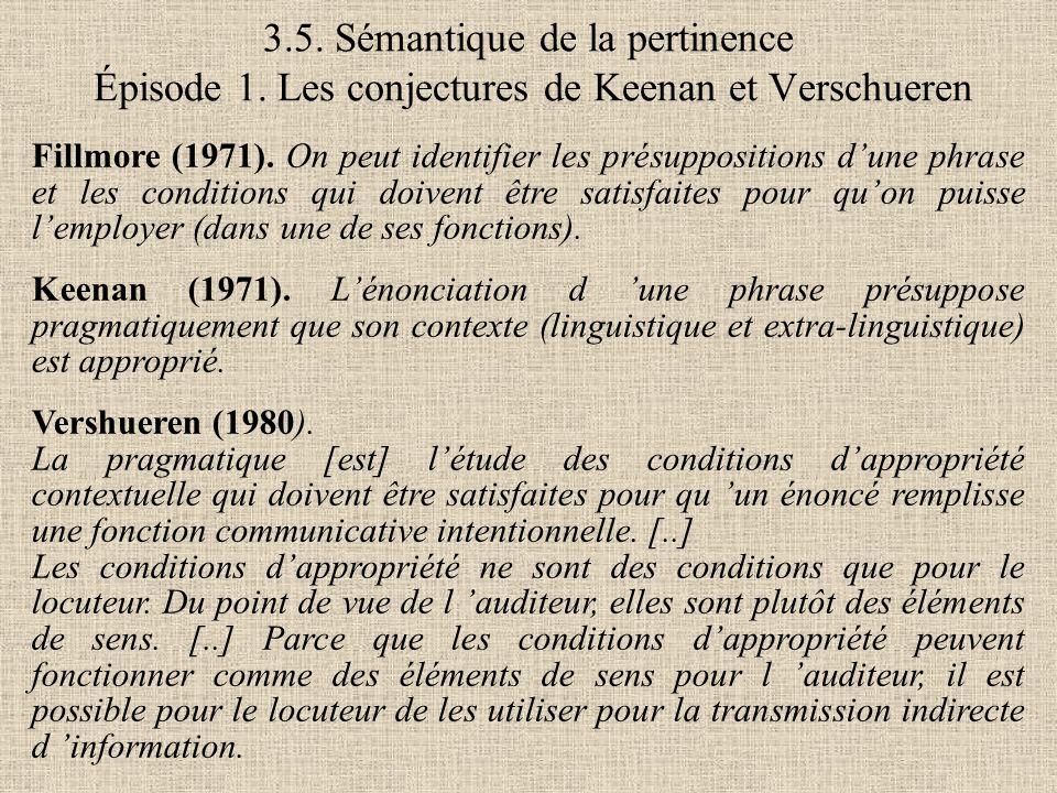 3. 5. Sémantique de la pertinence Épisode 1