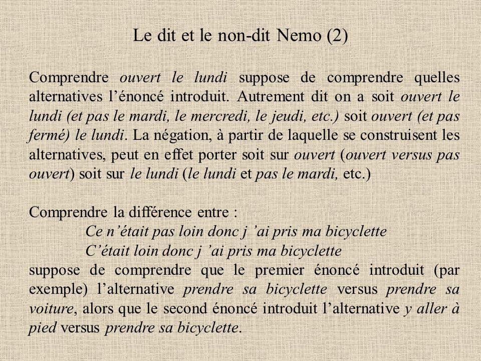 Le dit et le non-dit Nemo (2)