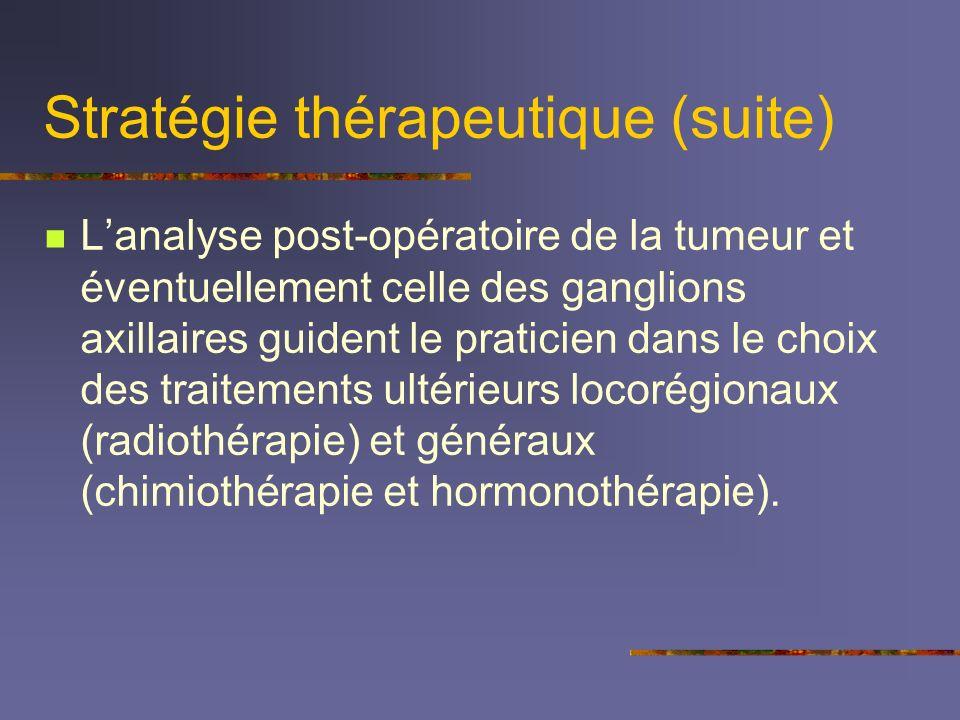 Stratégie thérapeutique (suite)