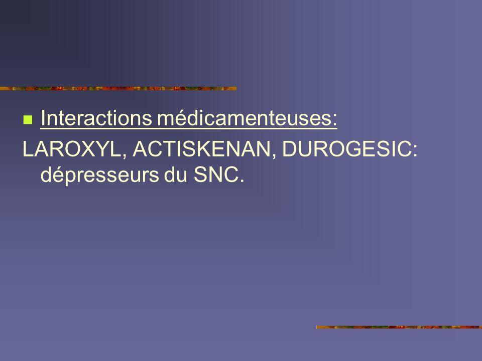 Interactions médicamenteuses: