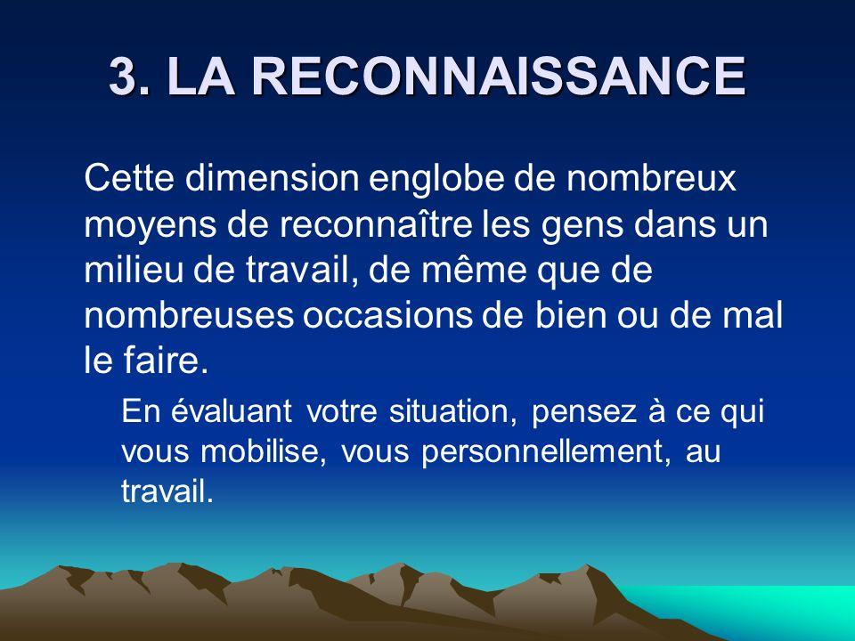 3. LA RECONNAISSANCE
