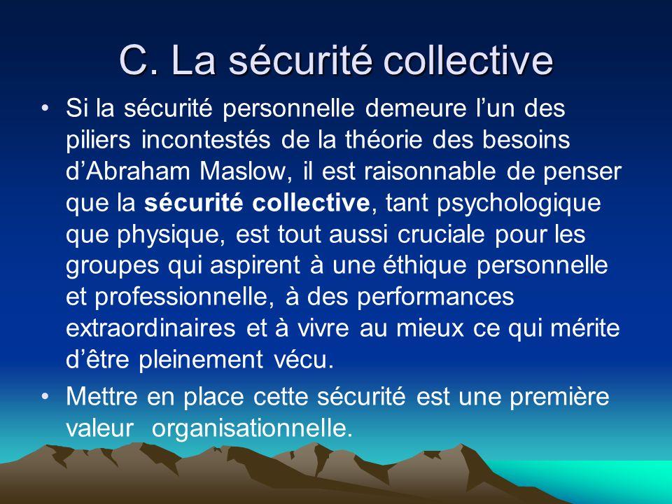 C. La sécurité collective