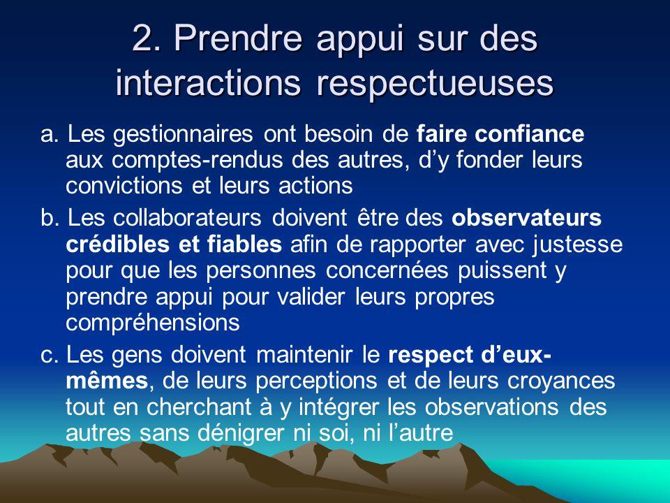 2. Prendre appui sur des interactions respectueuses