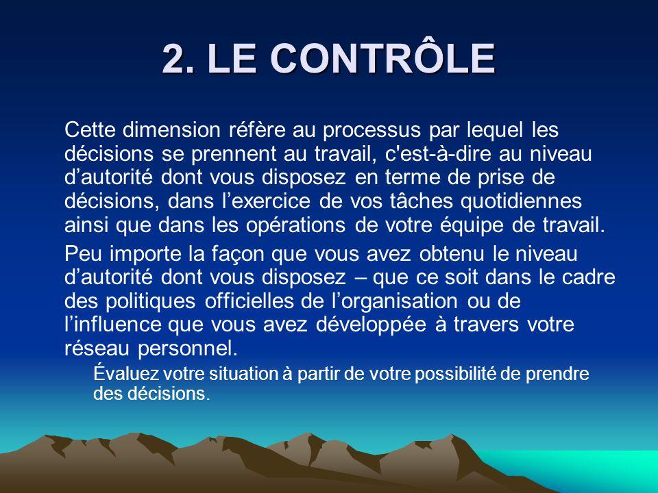 2. LE CONTRÔLE
