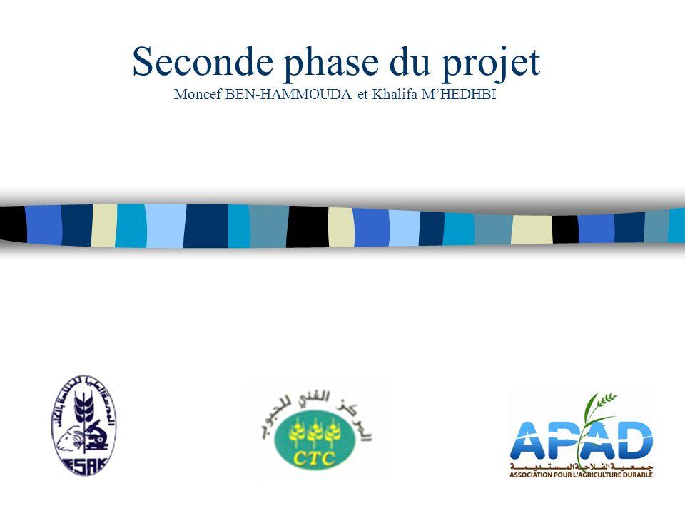 Seconde phase du projet Moncef BEN-HAMMOUDA et Khalifa M'HEDHBI