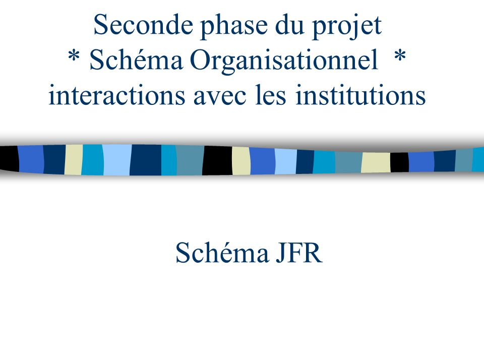 Seconde phase du projet. Schéma Organisationnel
