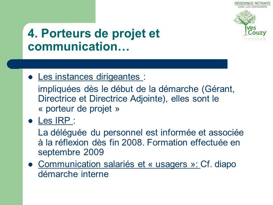 4. Porteurs de projet et communication…