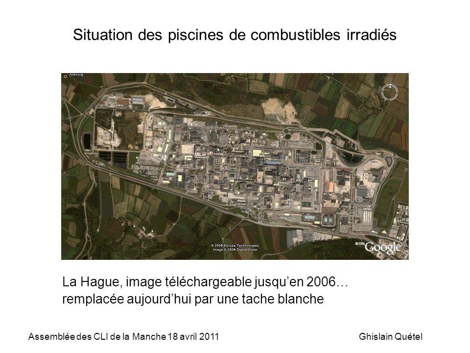 Situation des piscines de combustibles irradiés