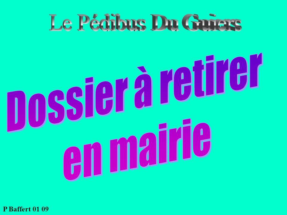 Le Pédibus Du Guiers Dossier à retirer en mairie P Baffert 01 09