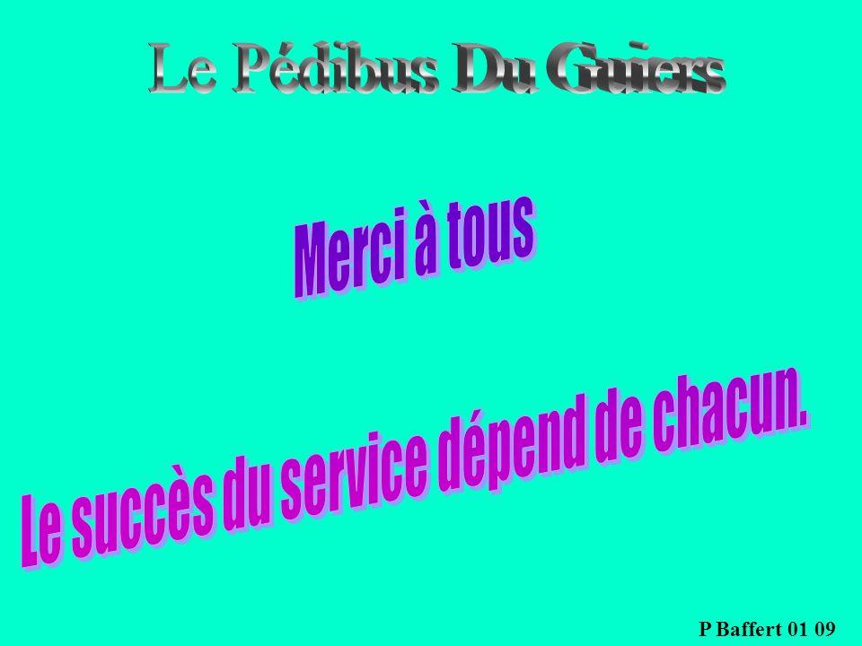 Le succès du service dépend de chacun.