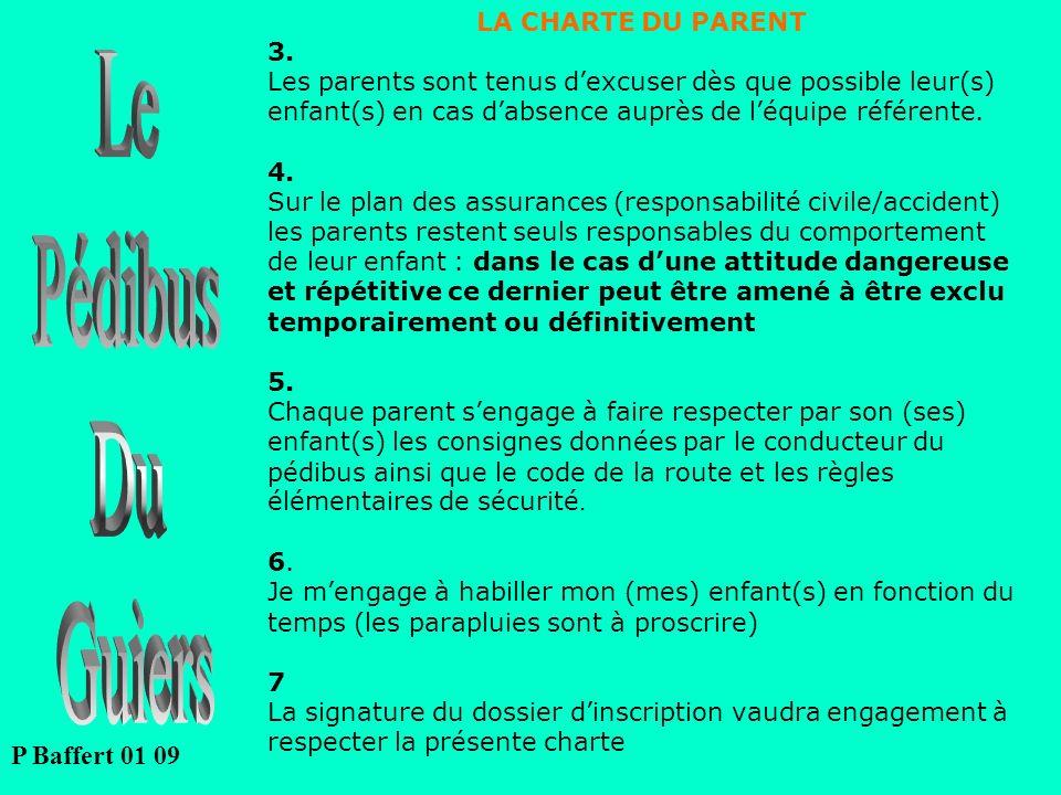 Le Pédibus Du Guiers P Baffert 01 09 LA CHARTE DU PARENT 3.