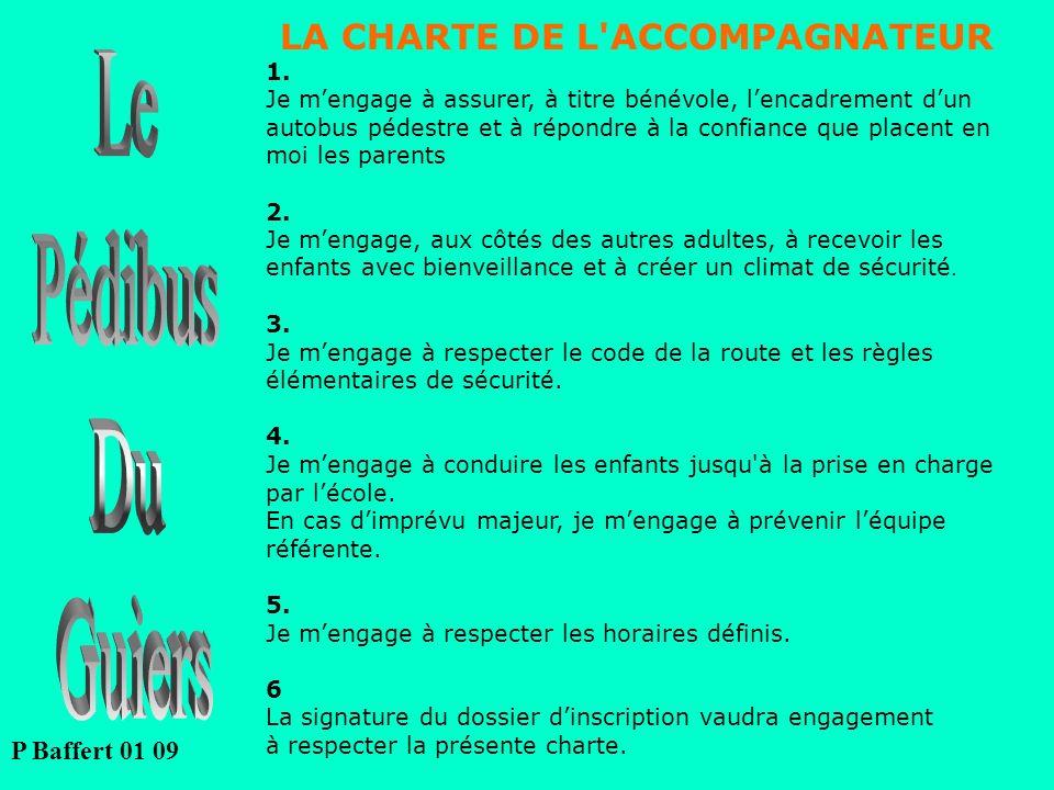LA CHARTE DE L ACCOMPAGNATEUR