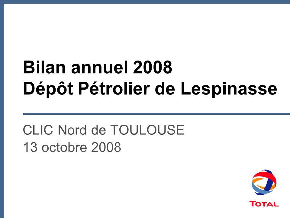 Bilan annuel 2008 Dépôt Pétrolier de Lespinasse