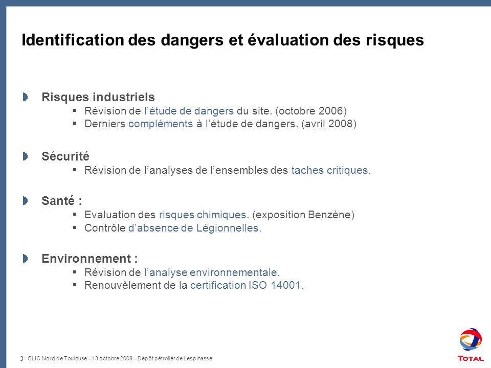 Identification des dangers et évaluation des risques