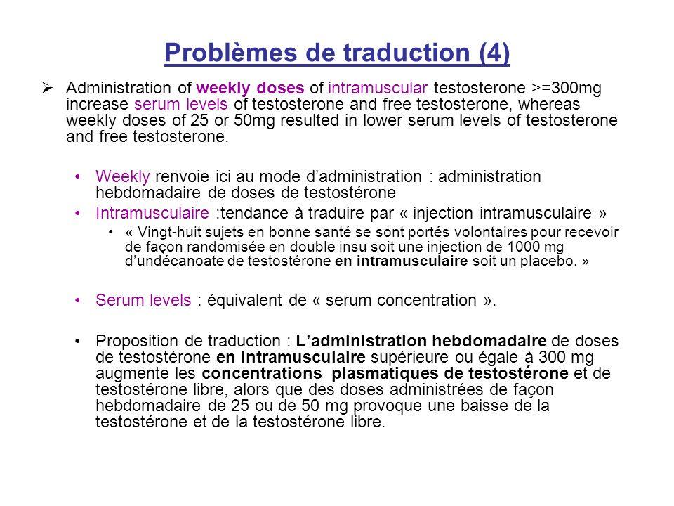 Problèmes de traduction (4)