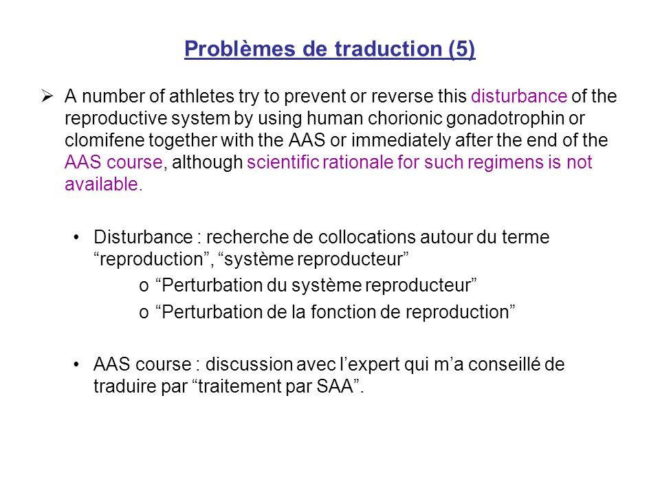 Problèmes de traduction (5)