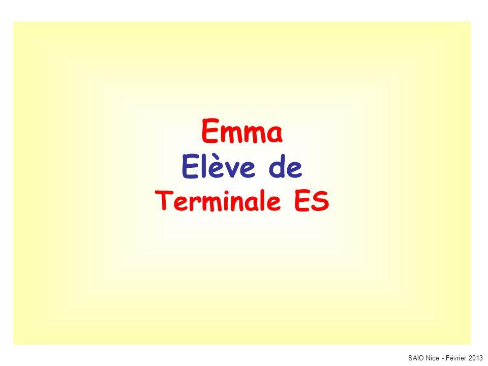 Emma Elève de Terminale ES