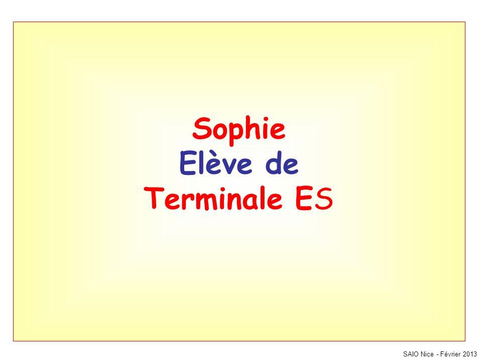 Sophie Elève de Terminale ES