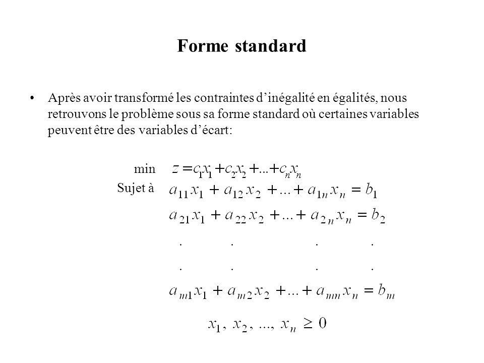 Forme standard