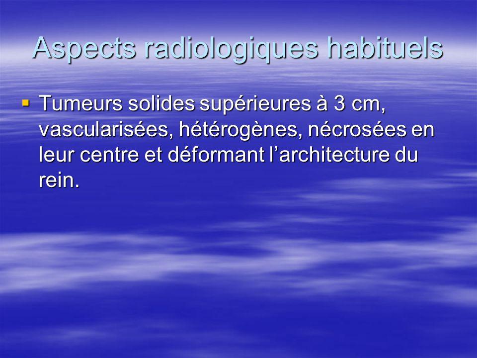 Aspects radiologiques habituels