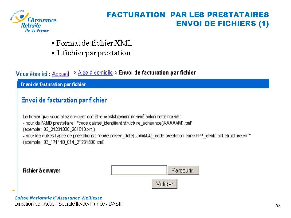 FACTURATION PAR LES PRESTATAIRES ENVOI DE FICHIERS (1)