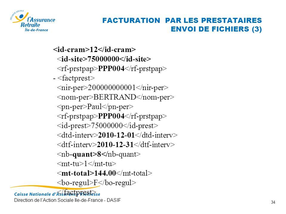 FACTURATION PAR LES PRESTATAIRES ENVOI DE FICHIERS (3)