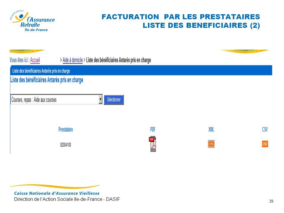 FACTURATION PAR LES PRESTATAIRES LISTE DES BENEFICIAIRES (2)