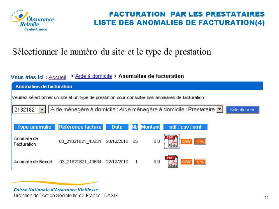 FACTURATION PAR LES PRESTATAIRES LISTE DES ANOMALIES DE FACTURATION(4)
