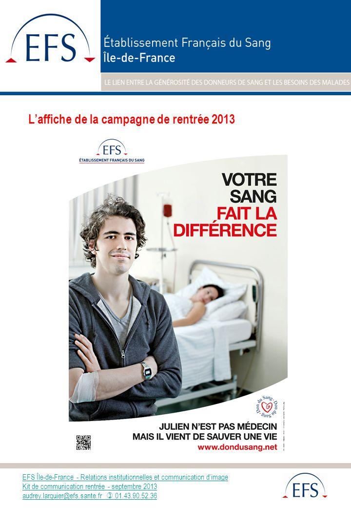 L'affiche de la campagne de rentrée 2013